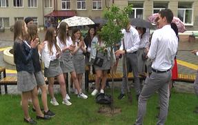 Учні нашої школи заклали Алею випускників